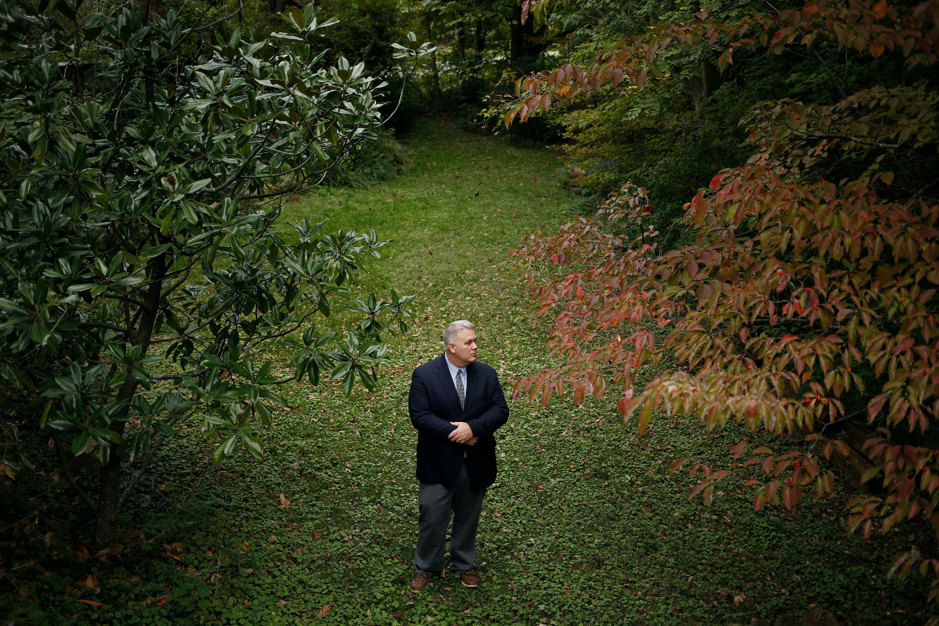 Former Kentucky Retirement Systems trustee Chris Tobe stands for a portrait at his parents' house in Floyds Knobs, Indiana, U.S., on Friday, Oct. 19, 2018. Photographer: Luke Sharrett for The Intercept