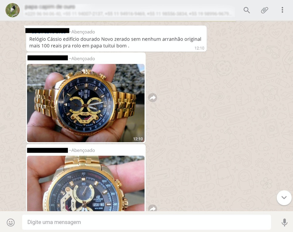 Traficantes aceitam relógios como pagamento.