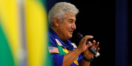 Marcos Pontes participa do 1º Congresso Aeroespacial Brasileiro na UniAmérica-Centro Universitário em Foz do Iguaçu, no Paraná, no dia 2 de novembro.