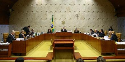 Sessão plenária do STF em Brasília, no dia 24 de outubro.