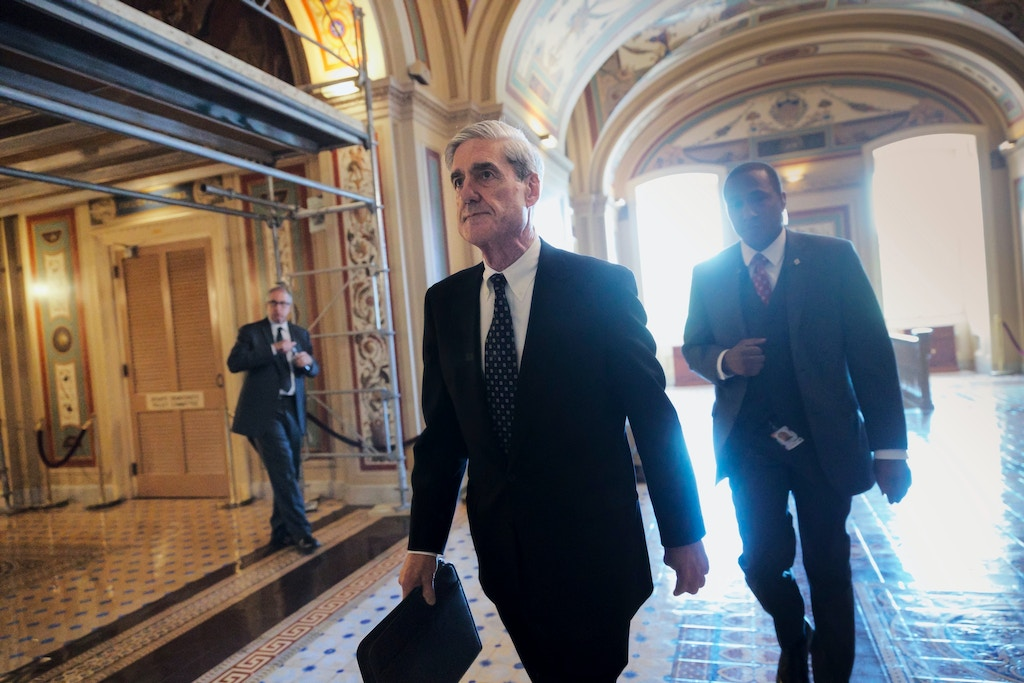 In a photo taken Wednesday, June 21, 2017, Special Counsel Robert Mueller departs after a closed-door meeting with members of the Senate Judiciary Committee about Russian meddling in the election and possible connection to the Trump campaign, at the Capitol in Washington. (AP Photo/J. Scott Applewhite)