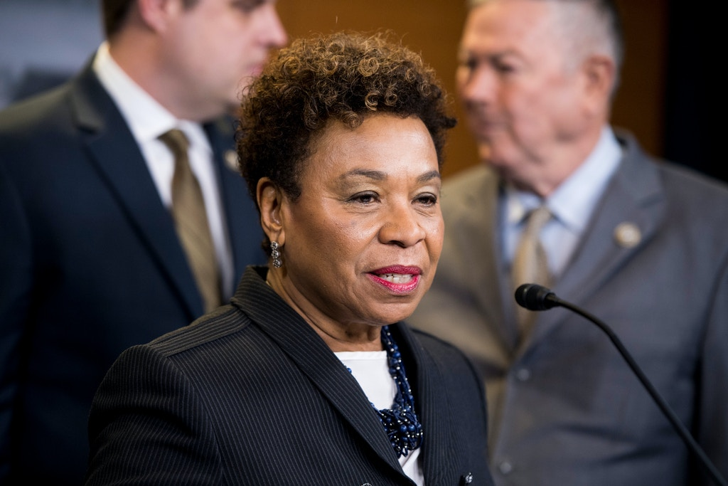 UNITED STATES - APRIL 26: Rep. Barbara Lee, D-Calif., participates in a press conference on medical cannabis research reform on Thursday, April 26, 2018. (Photo By Bill Clark/CQ Roll Call) (CQ Roll Call via AP Images)