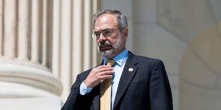UNITED STATES - JULY 19: Rep. Andy Harris, R-Md., walks down the House steps after the final votes of the week on Thursday, July 19, 2018. (Photo By Bill Clark/CQ Roll Call) (CQ Roll Call via AP Images)