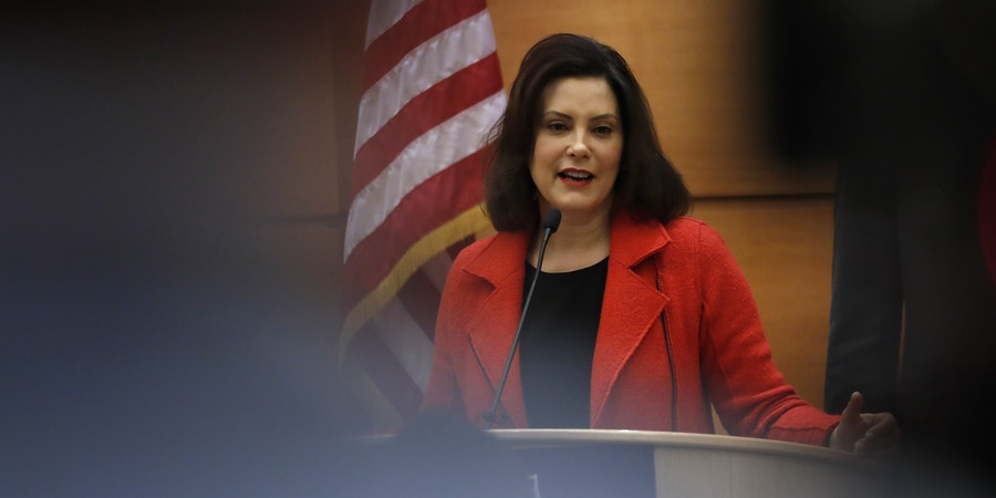Michigan Gov.-elect Gretchen Whitmer hosts a post-election news conference, Wednesday, Nov. 7, 2018, in Detroit. (AP Photo/Carlos Osorio)