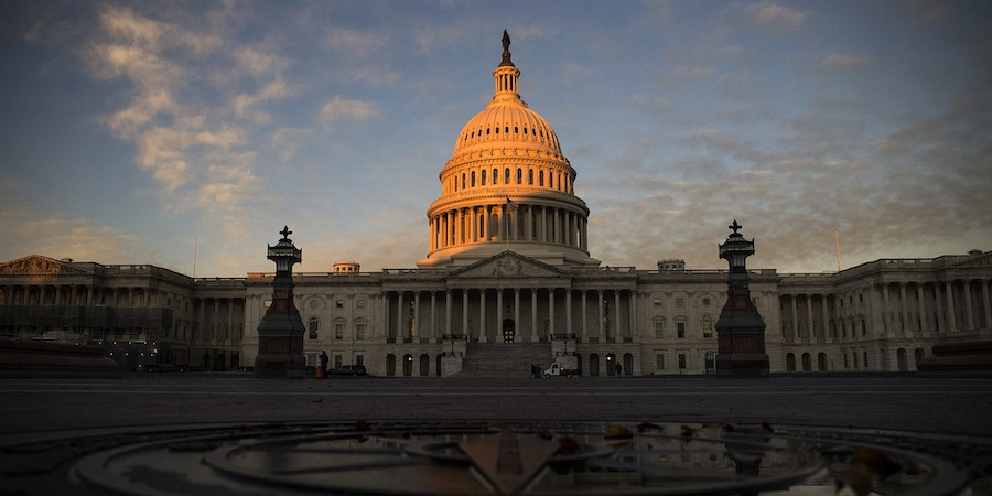 WASHINGTON, DC - NOVEMBER 07: The U.S. Capitol building is pictured on November 7, 2018 in Washington, DC. (Photo by Zach Gibson/Getty Images)