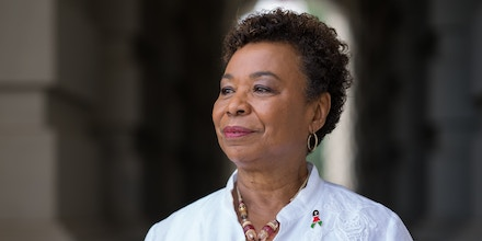 Rep. Barbara Lee (D-Calif.) on Capitol Hill in Washington, July 26, 2018. The fight for the post of House Democratic caucus chairman, now held by the defeated Rep. Joseph Crowley (D-N.Y.), hints at a coming free-for-all. (Erin Schaff/The New York Times)