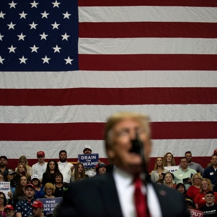President Donald Trump delivers remarks at a Make America Great Again rally at McKenzie Arena in Chattanooga, Tenn., Nov. 4, 2018. (Gabriella Demczuk/The New York Times)