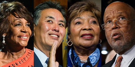 From left, Reps. Maxine Waters, Mark Takano, Eddie Bernice Johnson, and Bennie Thompson.