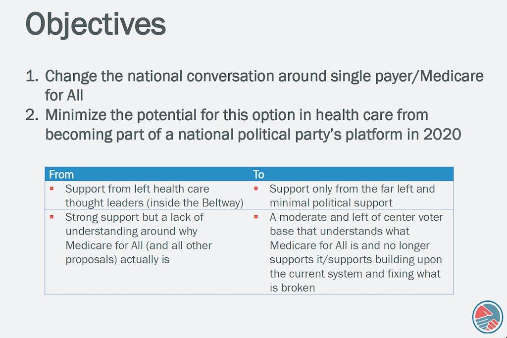 Lobbyist Documents Reveal Health Care Industry Battle Plan