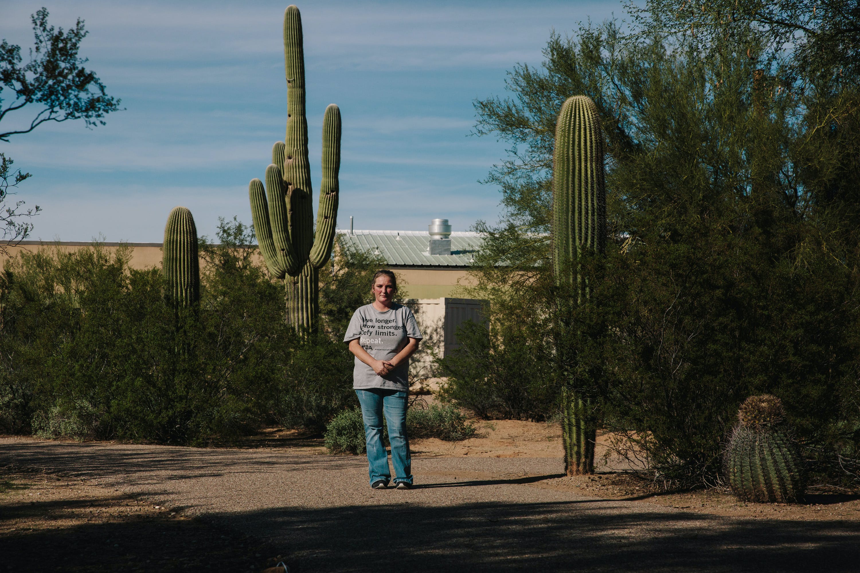 Elishia Sloan at Picture Rock Park on Oct. 28 in Tucson, Ariz. (Caitlin O'Hara for The Intercept)