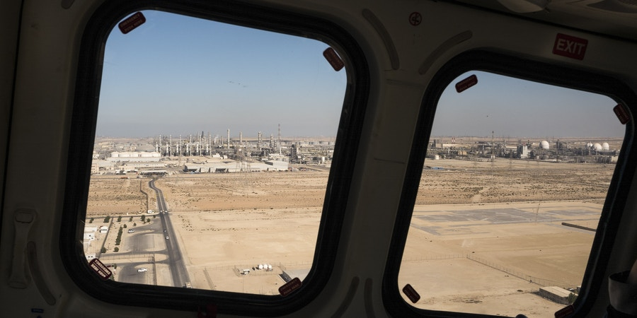 FILE -- Sadara Chemical Company, a joint venture between Saudi Aramco and Dow Chemical, in Jubayl, Saudi Arabia, Jan. 11, 2018. Officials and cybersecurity researchers worry the culprits of a recent cyberattack against the Saudi chemical plant could replicate it in other countries, since thousands of industrial plants all over the world rely on the same American-engineered computer systems that were compromised. (Christophe Viseux/The New York Times)