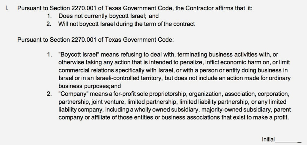 School Contractor in Texas Denied Work Over Pro-Israel