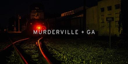 The train tracks in Adel, Georgia.