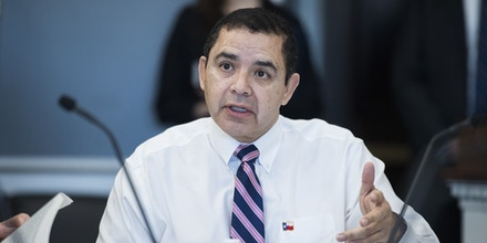 UNITED STATES - JULY 19: Rep. Henry Cuellar, D-Texas, is seen during a House Appropriations Homeland Security Subcommittee markup of the FY2019 Homeland Security Appropriations bill in Rayburn Building on July 19, 2018. (Photo By Tom Williams/CQ Roll Call)