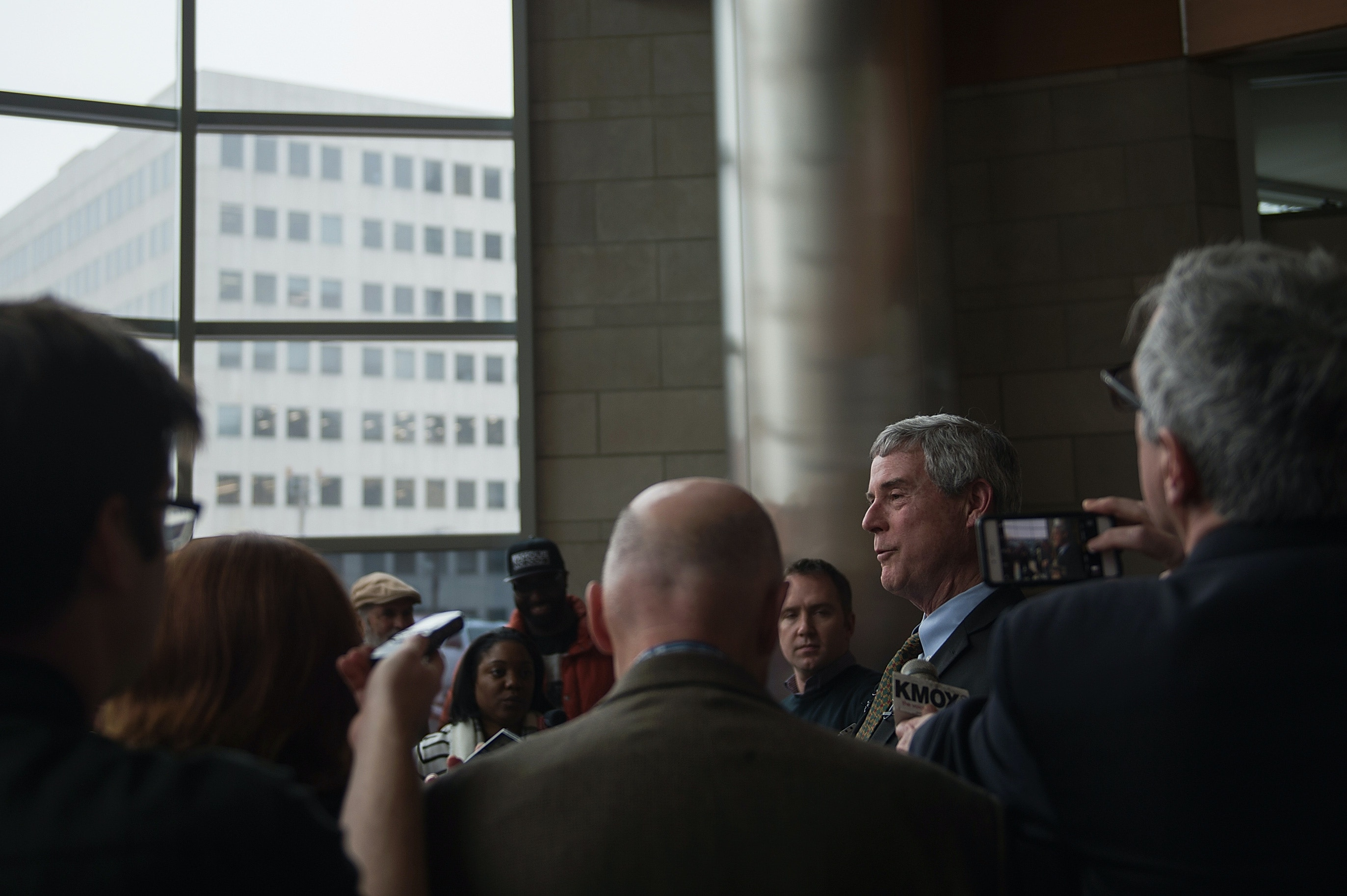 "CLAYTON, MO - MARCH 13:  Robert P. ""Bob"" McCulloch, Prosecuting Attorney for St. Louis County speaks to the media during a news conference on March 13, 2017 in Clayton, Missouri. Tension and protest in Ferguson has arisen in response to video footage of slain 18 year-old Michael Brown in a recent documentary. (Photo by Michael B. Thomas/Getty Images)"