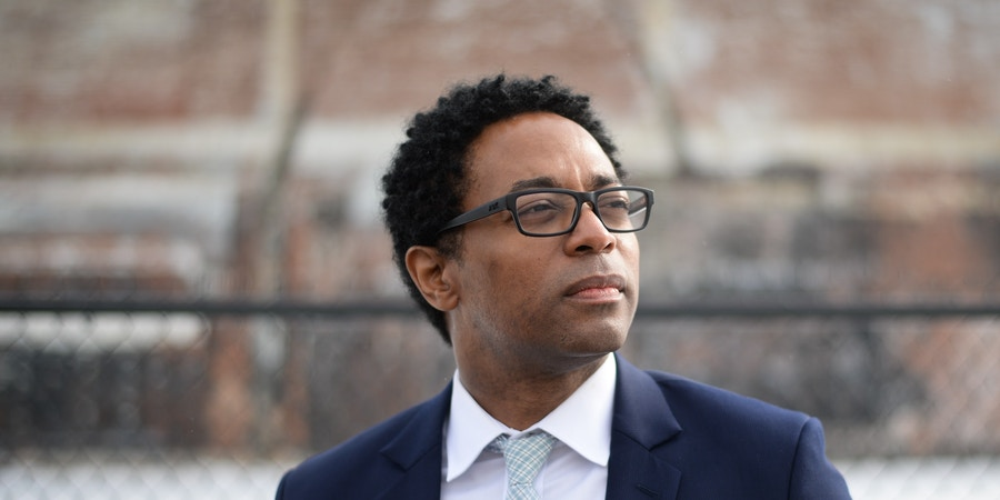 St. Louis County Prosecutor, Wesley Bell poses for a portrait outside the Wellston Resource Center on January 21, 2019 in Wellston, Mo. (Photo: Michael Thomas for The Intercept)