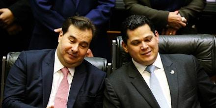 Rodrigo Maia e Davi Alcolumbre: o DEM, novo nome do velho PFL, está de volta ao comando do Congresso