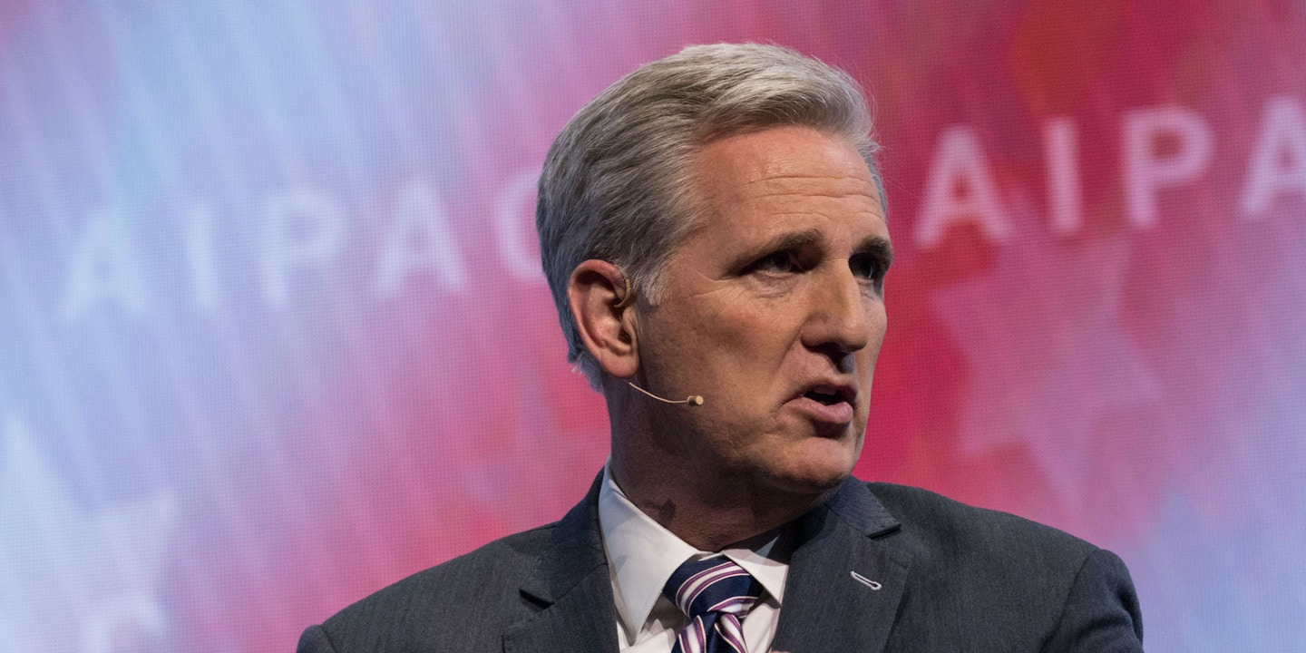 Rep. Kevin McCarthy (R-CA), participated in a panel discussion, at the 2018 American Israel Public Affairs Committee (AIPAC) Policy Conference, at the Walter E. Washington Convention Center in Washington, D.C., on Monday, March 5, 2018. (Photo by Cheriss May)(Sipa via AP Images)