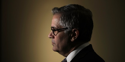 Philadelphia District Attorney Larry Krasner speaks with members of the media during a news conference in Philadelphia, Wednesday, Feb. 6, 2019. Krasner announced plans Wednesday to keep more juveniles out of the court system and keep many who are charged out of custody. (AP Photo/Matt Rourke)