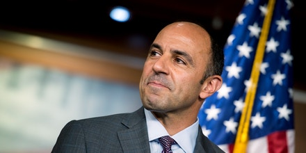 UNITED STATES – July 18: Rep. Jimmy Panetta, D-Calif., listens at a press conference about President Donald Trump's summit with Russian President Vladimir Putin in the Capitol Wednesday July 18, 2018. (Photo By Sarah Silbiger/CQ Roll Call) (CQ Roll Call via AP Images)