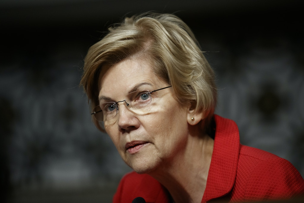 "File-This Feb. 29, 2019, file photo shows Senate Armed Services Committee member, Sen. Elizabeth Warren, D-Mass., during a Senate Armed Services Committee hearing on ""Nuclear Policy and Posture"" on Capitol Hill in Washington. Sen. Warren, who is seeking the Democratic nomination for president in 2020, did not call for the minimum wage to be $22 an hour, as posts circulating on social media suggest. However, she did discuss the findings of a study that showed if minimum wage had been tied to productivity between 1960 and 2013, it would be $22 an hour, during a March 2013 Senate Committee on Health, Education, Labor and Pensions hearing. (AP Photo/Carolyn Kaster, File)"