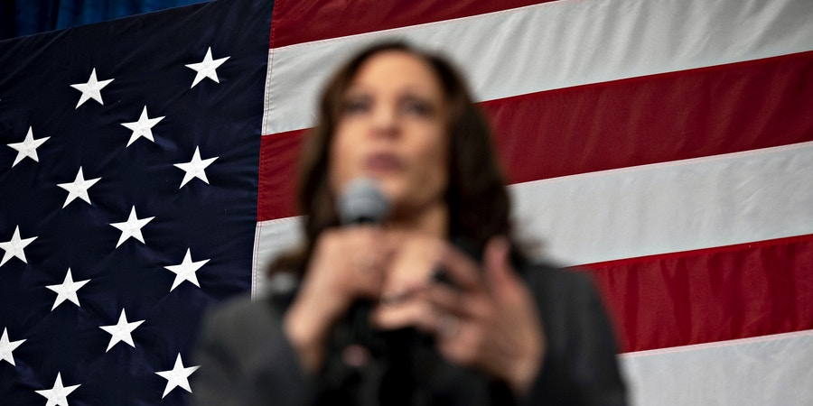 Senator Kamala Harris, a Democrat from California and 2020 presidential candidate, speaks during a campaign stop in Ankeny, Iowa, U.S., on Saturday, Feb. 23, 2019. Harris is one of six women running for the Democratic nomination to become the first female to hold the highest office in the nation. Photographer: Daniel Acker/Bloomberg via Getty Images