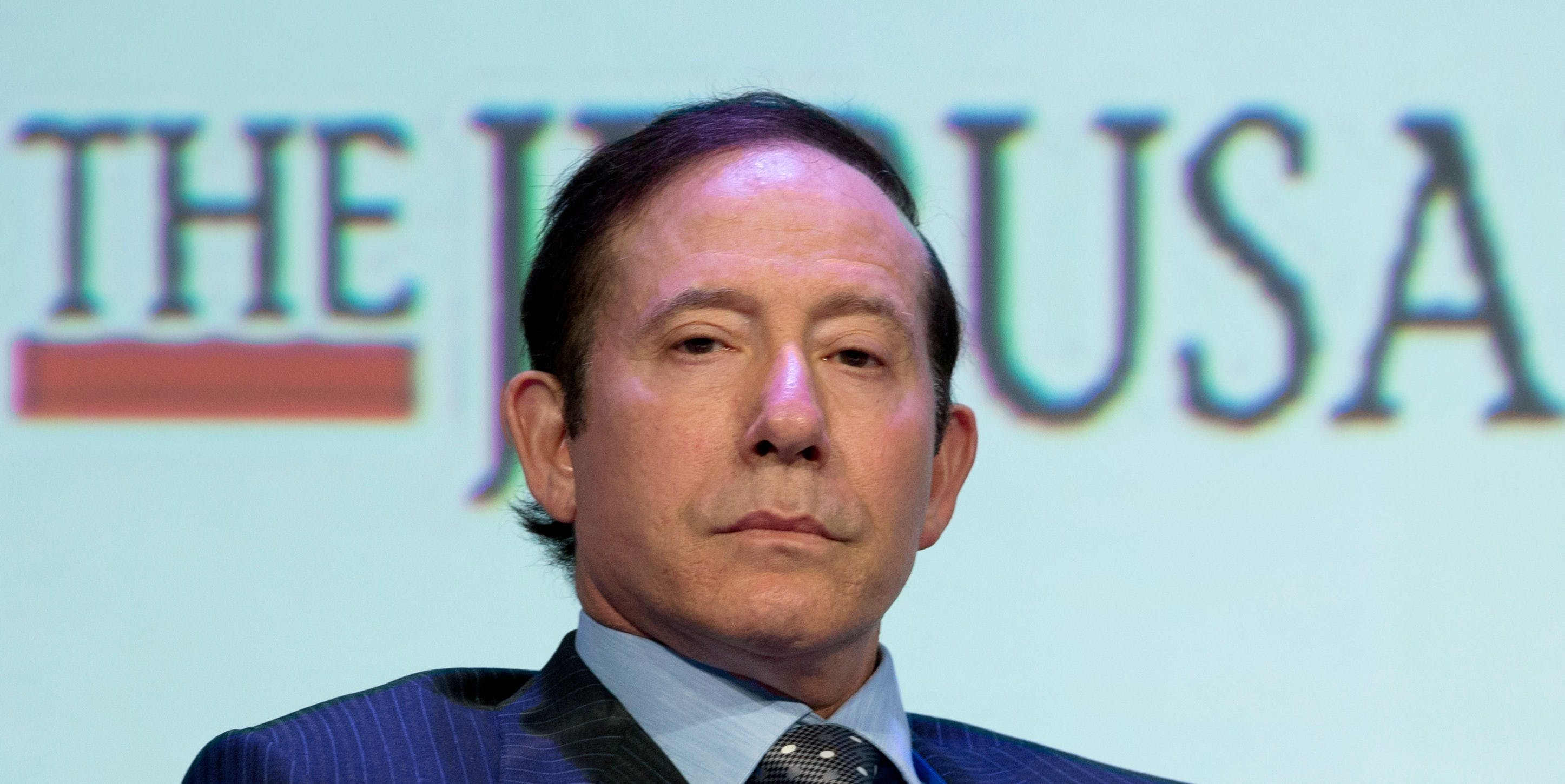 MARRIOTT MARQUIS TIMES SQUARE, NEW YORK, UNITED STATES - 2016/05/22: Adam Milstein Chairman of Israeli-American Council attends Jerusalem Post COnference 2016 at Marriott Marquis Times Square. (Photo by Lev Radin/Pacific Press/LightRocket via Getty Images)