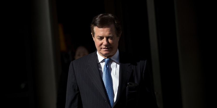 WASHINGTON, DC - FEBRUARY 28: Paul Manafort, former campaign manager for Donald Trump, exits the E. Barrett Prettyman Federal Courthouse, February 28, 2018 in Washington, DC. This is Manafort's first court appearance since his longtime deputy Rick Gates pleaded guilty last week in special counsel Robert MuellerÕs Russia probe. (Photo by Drew Angerer/Getty Images)