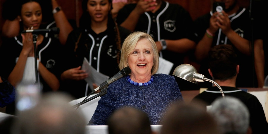 Former Secretary of State Hillary Rodham Clinton speaks during the Bloody Sunday commemorative service at Brown Chapel AME Church in Selma, Alabama, U.S. March 3, 2019.  REUTERS/Chris Aluka Berry - RC1ACA5117B0