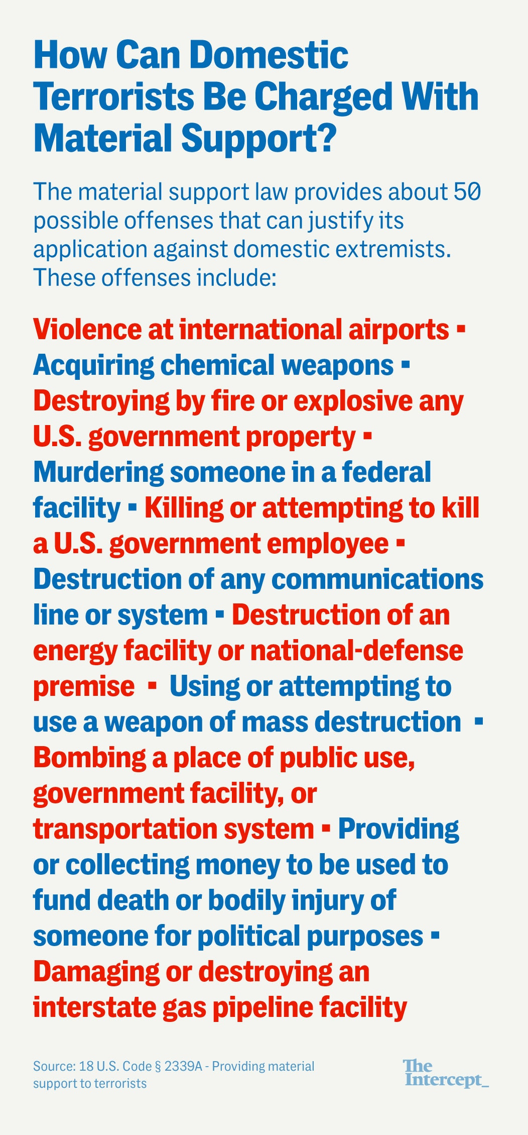 The Domestic Terrorism Law the Justice Department Forgot