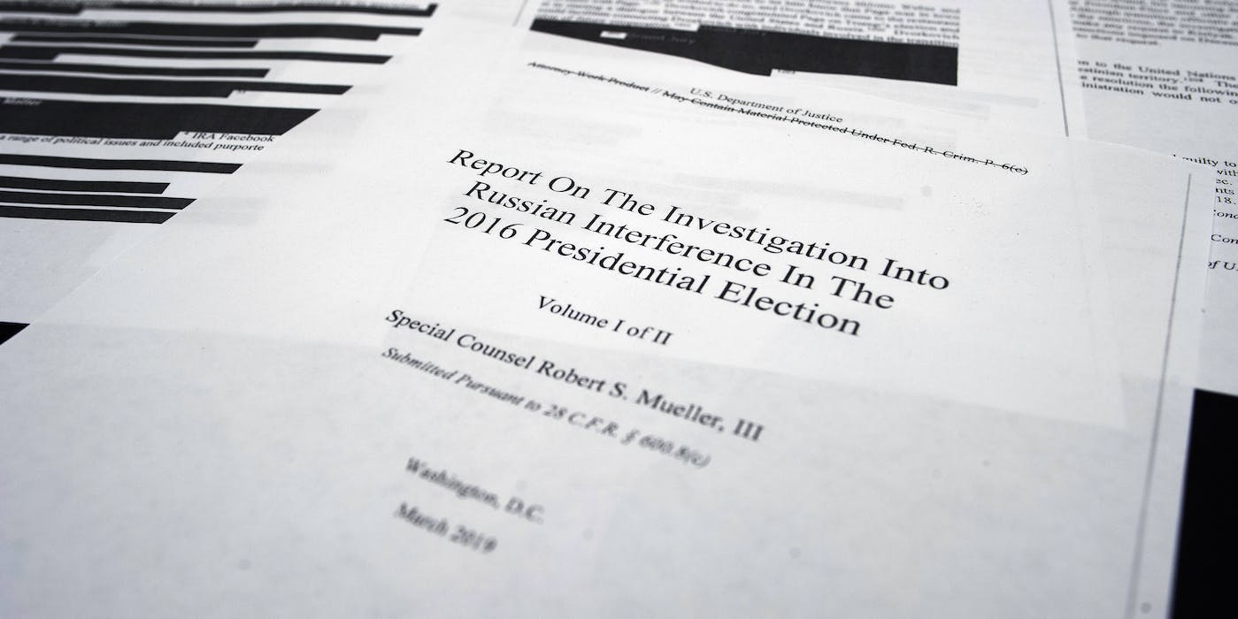 Annotating Special Counsel Robert Mueller's Redacted Report