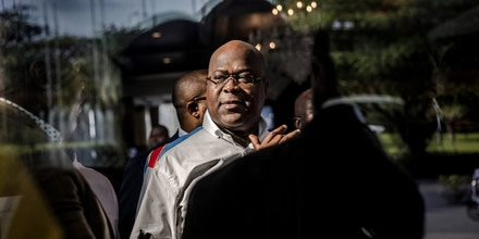 Presidential candidate Felix Tshisekedi leaves after a meeting between CENI, SADC and other presidential candidates in Kinshasa, Democratic Republic of Congo on December 29, 2018, one day ahead of the General Elections. - One of the world's powder-keg countries faces a crunch test on December 30 when Democratic Republic of Congo heads into elections marred by delays, clashes and fears of polling-day chaos as electoral authorities have postponed the vote until March in Beni and Butembo in North Kivu province (eastern RDCongo), and in Yumbi (western RDCongo). (Photo by Luis TATO / AFP)        (Photo credit should read LUIS TATO/AFP/Getty Images)