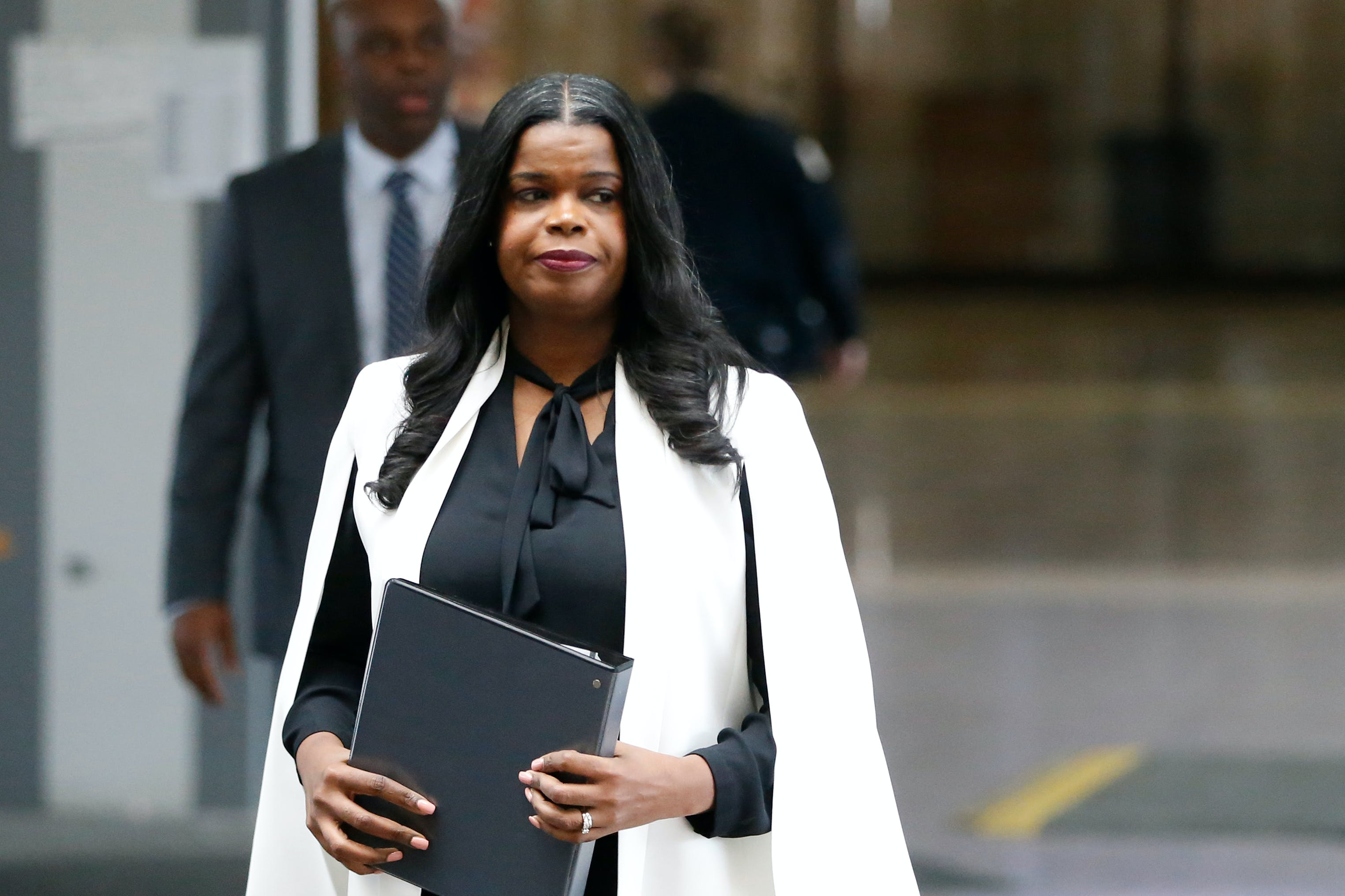 CHICAGO, IL - FEBRUARY 23: Cook County State Attorney Kim Foxx arrives to speak with reporters and details the charges against R. Kelly's first appearance at the Leighton Criminal Court on February 23, 2019 in Chicago, Illinois. (Photo by Nuccio DiNuzzo / Getty Images)
