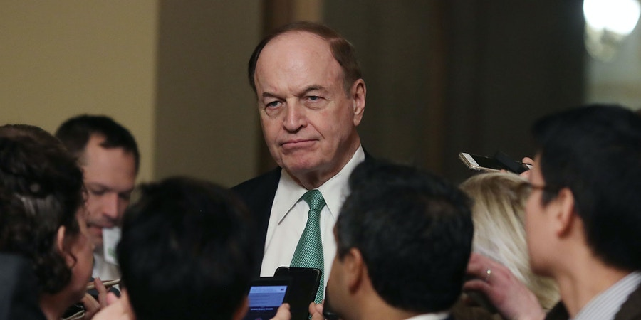 WASHINGTON, DC - FEBRUARY 11: Sen. Richard Shelby (R-AL) talks to reporters during a break in a bipartisan negotiation meeting over securing the U.S. southern border and keeping the U.S. government from shutting down, on Capitol Hill February 11, 2019 in Washington, DC on February 11, 2019 in Washington, DC. (Photo by Mark Wilson/Getty Images)