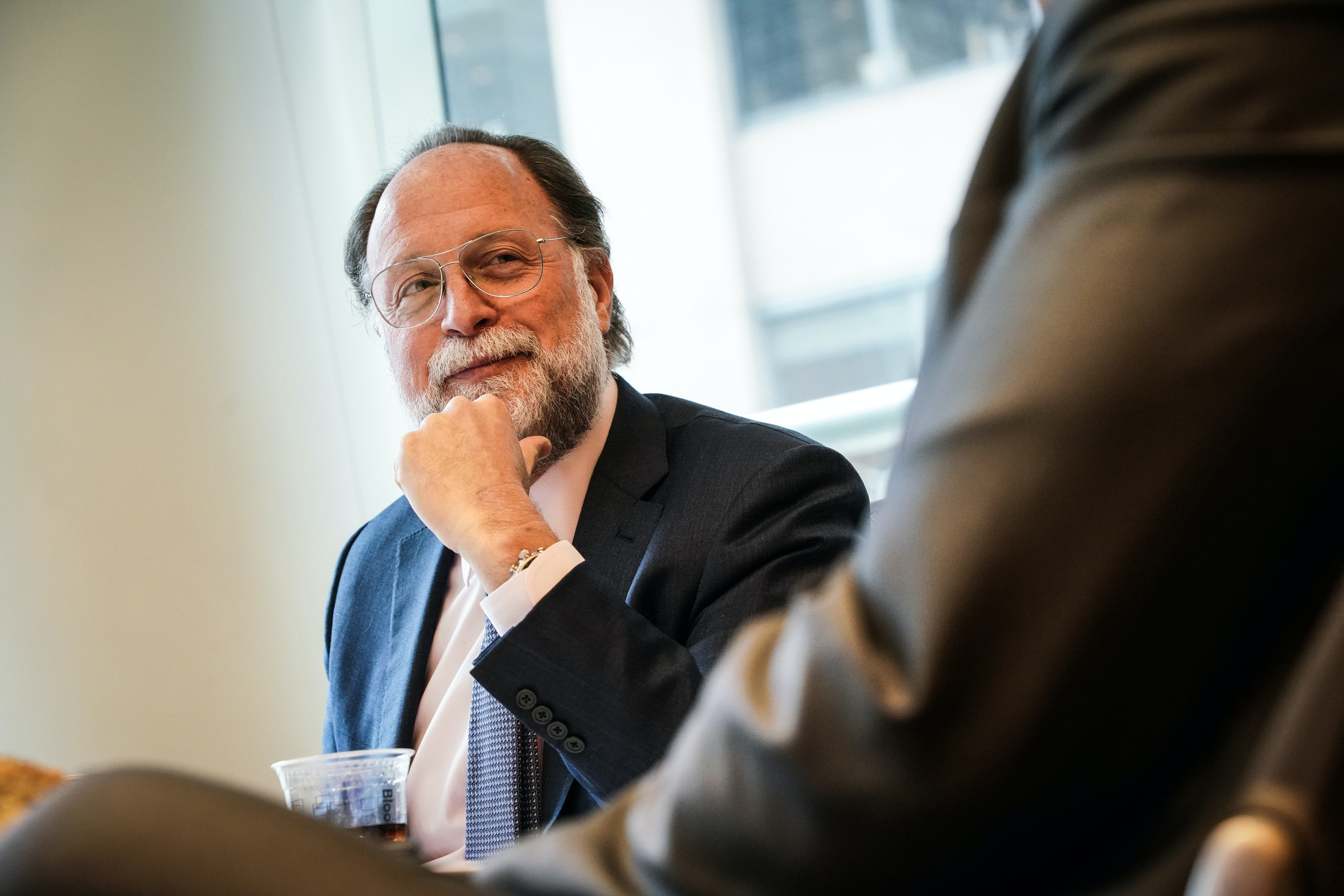 Ricardo Hausmann, Venezuela National Assembly leader Juan Guaido's representative to the Inter-American Development Bank (IDB), listens during an interview in New York, U.S., on Friday, April 5, 2019. The bank passed a motion Friday to certify Hausmann, a Harvard University economist and longtime critic of Nicolas Maduro's regime, as the nation's IDB governor. Photographer: Christopher Goodney/Bloomberg via Getty Images