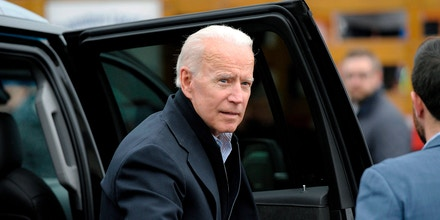Former US vice president Joe Biden arrives at a rally organized by UFCW Union members to support Stop and Shop employees on strike throughout the region at the Stop and Shop in Dorchester, Massachusetts, on April 18, 2019. - The 76-year-old Biden has not yet officially thrown his hat in the ring for the 2020 presidential election. (Photo by JOSEPH PREZIOSO / AFP)        (Photo credit should read JOSEPH PREZIOSO/AFP/Getty Images)