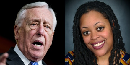 House Majority Leader Steny Hoyer, left, and primary challenger Mckayla Wilkes.