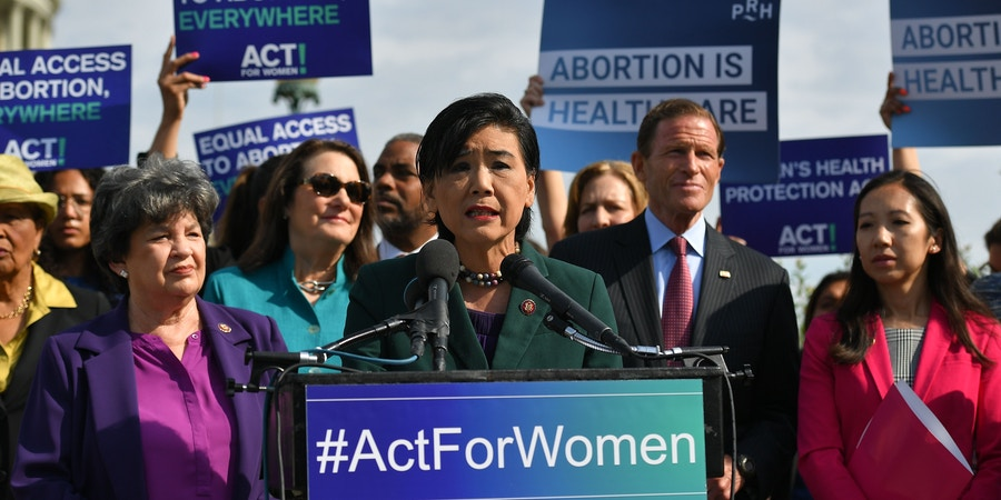 US Representative Judy Chu, Democrat of California, speaks during a press conference on the reintroduction of the