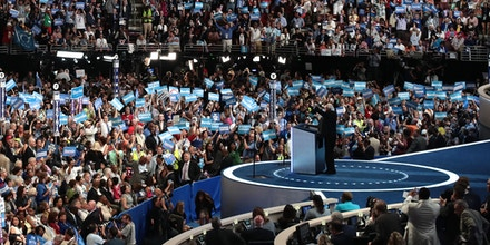 Bernie Sanders delivers remarks on the first day of the Democratic National Convention in Philadelphia, Pa., on July 25, 2016.