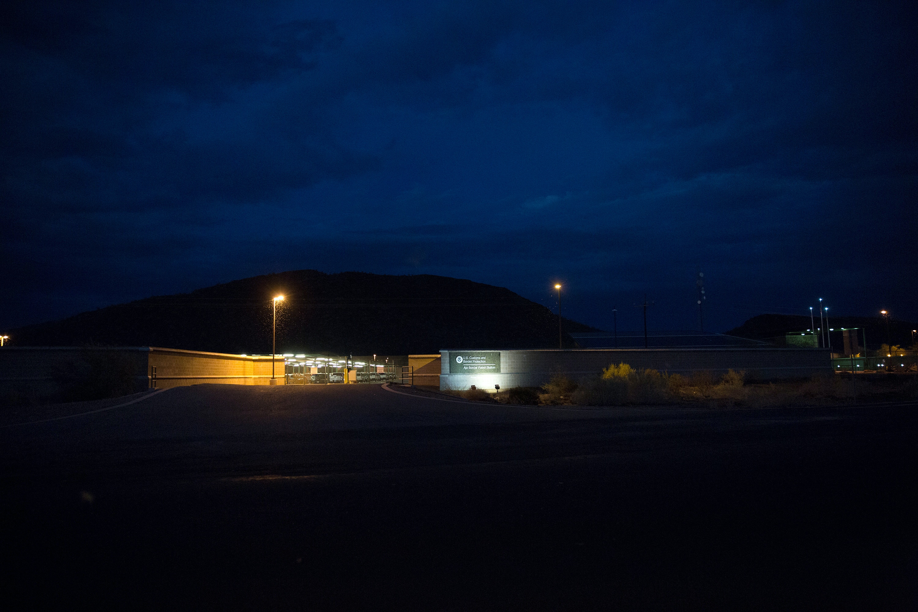 CBP border patrol station where Dr. Warren was held in custody after his arrest.