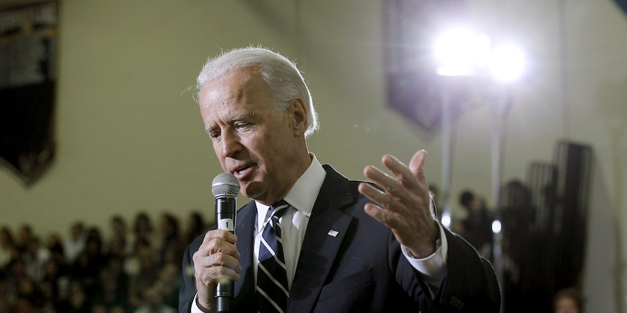 Vice President Joe Biden answers a question after speaking at Central Bucks High School West, Friday, Jan. 13, 2012, in Doylestown, Pa. Biden spoke about making college affordable and took questions from the audience. (AP Photo/Alex Brandon)