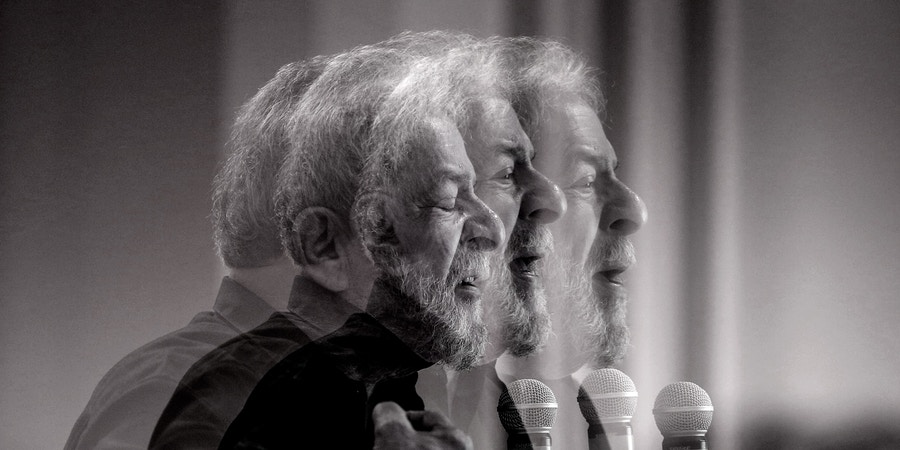 SP - Sao Paulo - 09/21/2017 - Brazil program that the people want - A multi-exposition photo of former President Lula, during a speech at the launch of the program, Brazil Que o Povo Quer, a broad process of listening and debate to involve Brazilians and Brazilians in the construction of a new program for Brazil. The program is a coalition of the Workers' Party, PT, together with Fundacao Perseu Abramo, FPA. The event took place at the Jaragua hotel, downtown Sao Paulo Photo: Suamy Beydoun / AGIF (via AP)