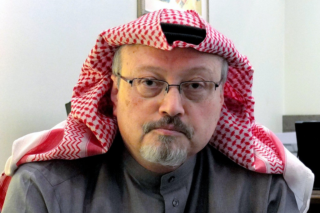Saudi journalist Jamal Khashoggi during an interview on Jan. 23, 2016, in Riyadh, Saudi Arabia.