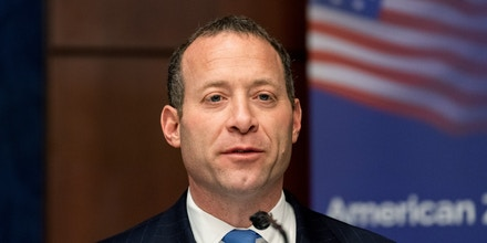 WASHINGTON, DC, UNITED STATES - 2018/12/12: US Representative Josh Gottheimer (D-NJ) at the American Zionist Movement / AZM Washington Forum: Renewing the Bipartisan Commitment Standing with Israel and Zionism in the Capitol Visitor Center in Washington, DC. (Photo by Michael Brochstein/SOPA Images/LightRocket via Getty Images)