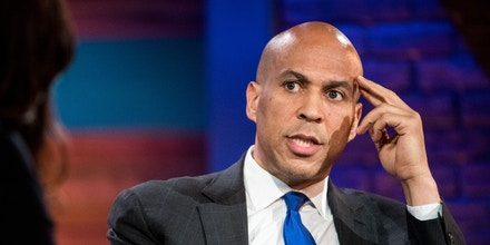 CHARLESTON, SC - JUNE 15: Democratic presidential candidate U.S. Sen. Cory Booker (D-NJ) participates in the Black Economic Alliance Forum at the Charleston Music Hall at the Charleston Music Hall on June 15, 2019 in Charleston, South Carolina. The Black Economic Alliance, is a nonpartisan group founded by Black executives and business leaders, and is hosting the forum in order to help Black voters understand the candidate's platforms. (Photo by Sean Rayford/Getty Images)