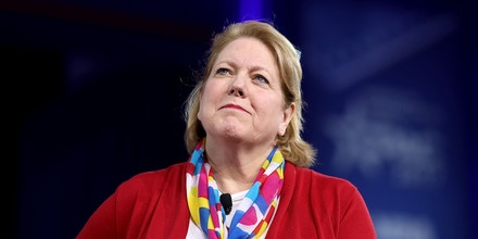 Ginni Thomas, wife of Supreme Court Associate Justice Clarence Thomas, moderates a panel discussion during the Conservative Political Action Conference in National Harbor, Md., on Feb. 23, 2017.
