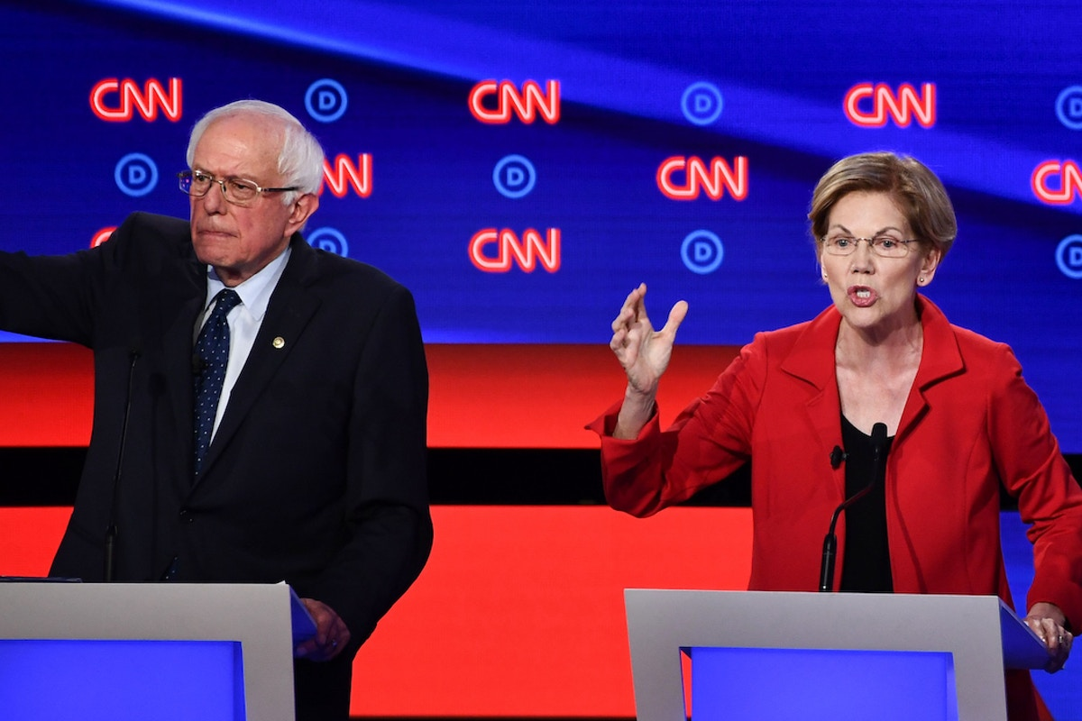 Elizabeth Warren and Bernie Sanders Dominate Democratic Debate Set Up to Ambush Them