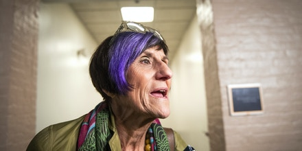 UNITED STATES - JULY 16: Rep. Rosa DeLauro, D-Conn., talks with the press before attending a meeting of the House Democratic caucus on Capitol Hill on Tuesday July 16, 2019. (Photo by Caroline Brehman/CQ Roll Call via AP Images)