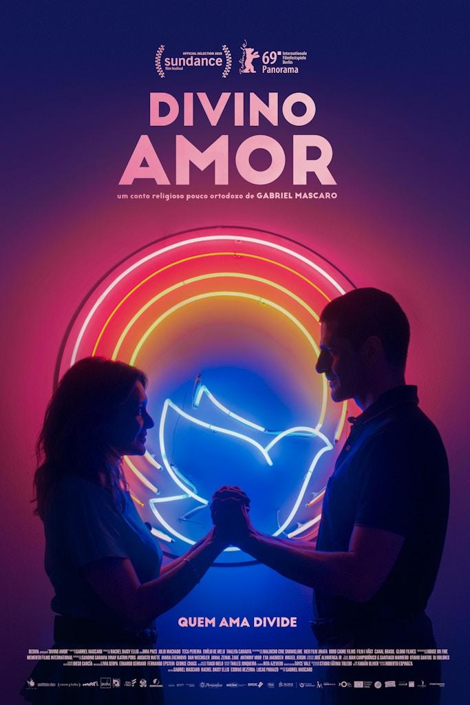 Cartaz brasileiro do filme Divino Amor (2019). Reprodução: Divulgação.
