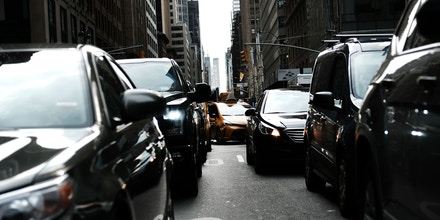 Cars in traffic in Manhattan, New York City, on Feb. 27, 2019.